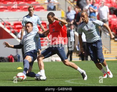 Soccer - UEFA Euro 2012 - Qualifying - Group G - England v Switzerland - England Training and Press Conference  - Stock Photo