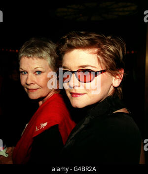 PA NEWS PHOTO 29/4/98  ACTRESS DAME JUDI DENCH AND DAUGHTER FINTY WILLIAMS ARRIVE AT THE OPENING NIGHT OF 'SHOWBOAT' - Stock Photo