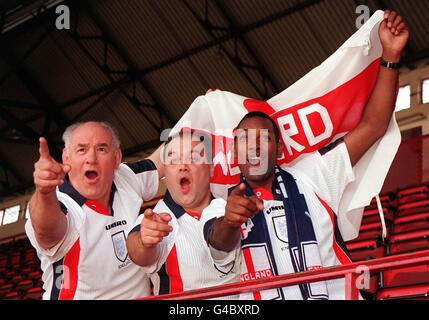 Eastenders/World Cup supporters - Stock Photo