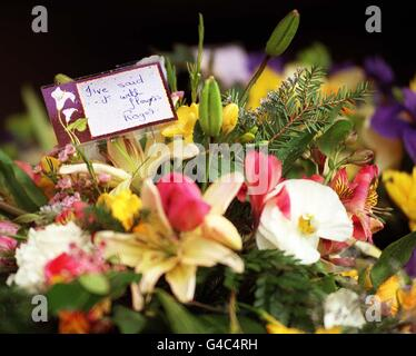 FUNERAL Squires/flowers - Stock Photo