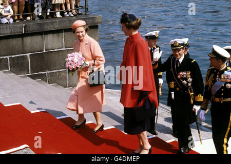 Royalty - Queen Elizabeth II State Visit - Denmark - Stock Photo