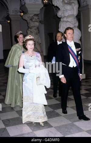 Royalty - Queen Elizabeth II State Visit - Denmark - Stock Photo