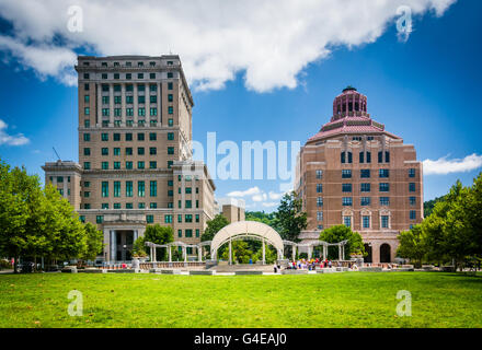 Buncombe County Courthouse and Asheville City Hall, in Asheville, North Carolina. - Stock Photo