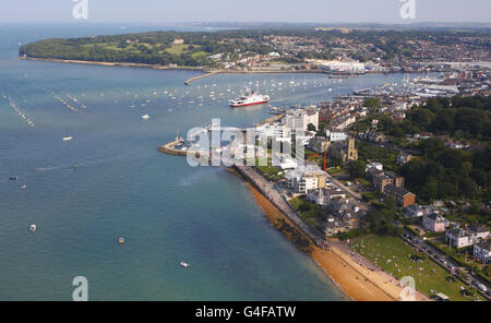 Stock - Aerial Views - English South Coast - Stock Photo