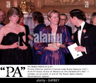 LADY DIANA MEETS PRINCESS GRACE - Stock Photo