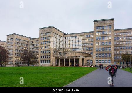 Johann Wolfgang Goethe University : former IG Farben Building or Poelzig Building, Germany, Hessen, Hesse, , Frankfurt - Stock Photo
