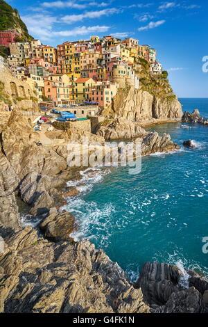 Manarola, Cinque Terre, Liguria, Italy, UNESCO - Stock Photo