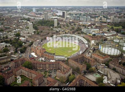 Cricket - npower Fourth Test - Day Five - England v India - The Kia Oval - Stock Photo