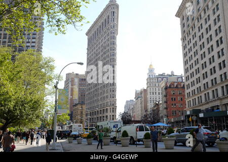 The famed Flatiron Building in New York City. - Stock Photo