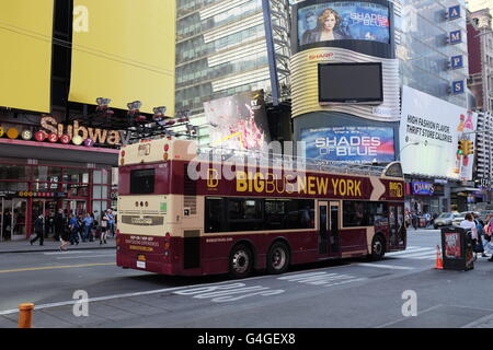 New York City, Manhattan, Big Bus - Stock Photo