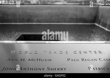 9/11 Memorial, Ground Zero, WTC, NY. - Stock Photo