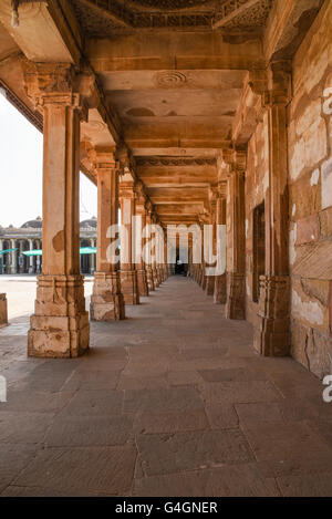 The walkway courtyard of Sarkhej Roza in Ahmedabad, India - Stock Photo
