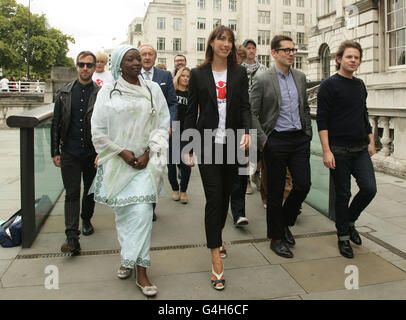 Save The Children's 'Fashion Mile Born to Walk Tall' campaign launch - Stock Photo