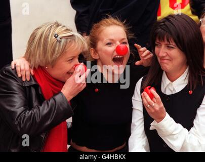 Frostrup, Geri & Freud: red noses - Stock Photo