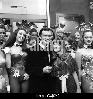 Playboy bunnies/Hefner - Stock Photo