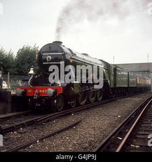 Transport - Steam Locomotives - The Flying Scotsman - London - 1969 - Stock Photo