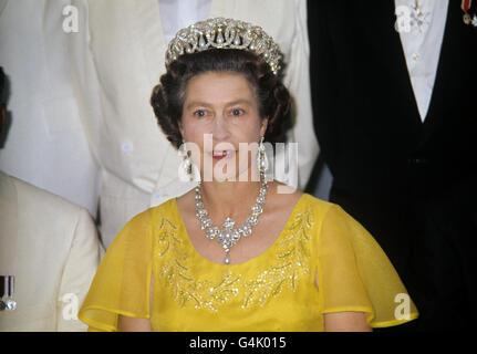 Royalty - Queen Elizabeth II Silver Jubilee - - Stock Photo