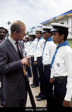 Royalty - Queen Elizabeth II Silver Jubilee - Barbados - Stock Photo