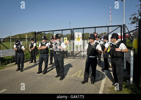 Hinkley Point protest - Stock Photo