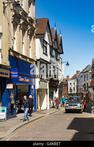 UK, Herefordshire, Leominster, High Street - Stock Photo