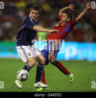 Soccer - UEFA Euro 2012 - Qualifying - Group I - Spain v Scotland - Estadio Jose Rico Perez - Stock Photo