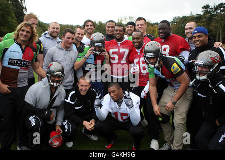 American Football - International Series - Tampa Bay Buccaneers v Chicago Bears - Tampa Bay Buccaneers Training - Stock Photo