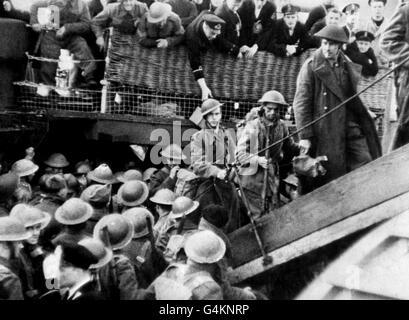 World War Two - British Empire - Operation Dynamo - 1940 - Stock Photo