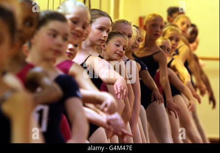 A Little Princess auditions - Stock Photo