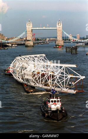 Millennium Wheel/ Thames - Stock Photo