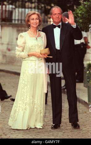 Greek Wedding/King Juan Carlos - Stock Photo