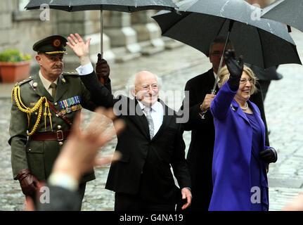 Higgins sworn in as Irish President - Stock Photo