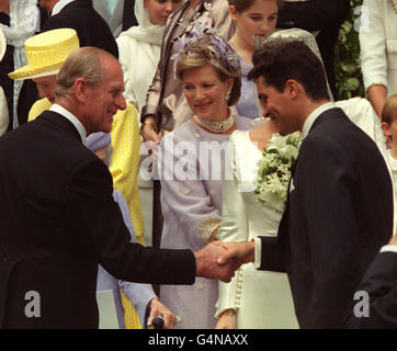 Royalty - Princess Alexia of Greece and Carlos Morales Quintana Wedding - Cathedral of St Sophia, London - Stock Photo