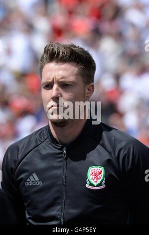 Lens, France. 16th June, 2016. Wayne Hennessey (WAL) Football/Soccer : UEFA EURO 2016 Group B match between England - Stock Photo