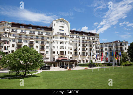 General view of Five-Star 'Hotel Royal Evian' in Evian, France, seen on 09 June 2016. The Hotel 'Ermitage', where - Stock Photo
