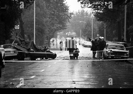 British Crime - Terrorism - IRA Mainland Bombing Campaign - Dulwich - 1984 - Stock Photo
