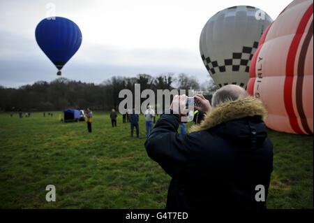 Annual International Icicle Balloon Meet - Stock Photo