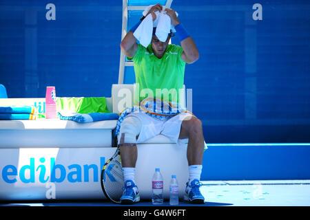Tennis - 2012 Australian Open - Day Seven - Melbourne Park - Stock Photo
