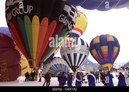 Balloon Festival Switzerland - Stock Photo