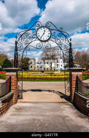 Prittlewell Square, an elegant garden, is a park situated in the conservation area overlooking the Thames Estuary - Stock Photo