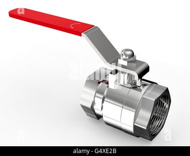 water valve isolated on a white background. - Stock Photo