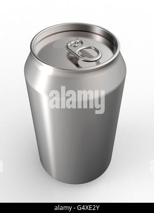 soda can isolated  on a white back ground. - Stock Photo