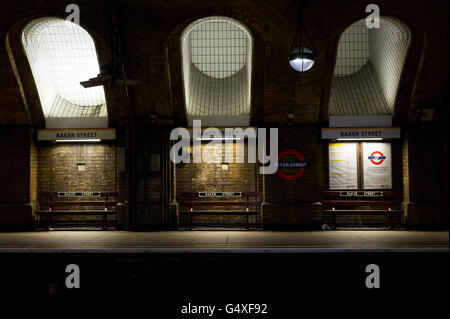 Baker Street Underground Station - Stock Photo