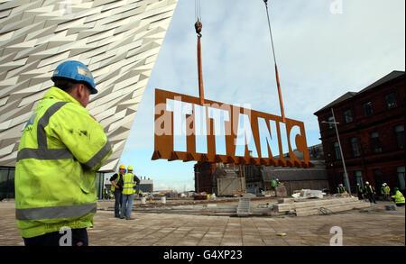Titanic Belfast visitor attraction - Stock Photo