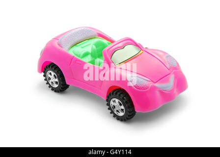 pink toy car - Stock Photo