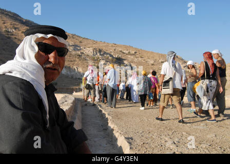 JORDAN, UNESCO world heritage archaeological site Petra, originally known as Raqmu to the Nabataeans / JORDANIEN, - Stock Photo