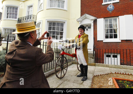 200th anniversary of the birth of Dickens - Stock Photo