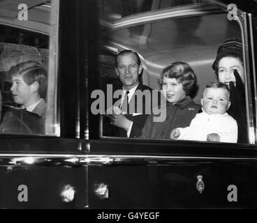 Royalty - Queen Elizabeth II and Family - Liverpool Street Station, London - Stock Photo