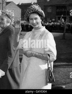 Royalty - Queen Elizabeth II - Polar, London - Stock Photo