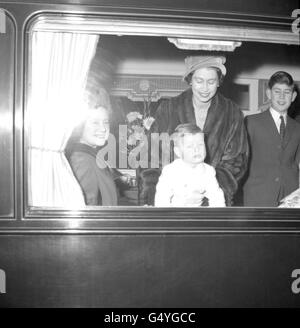 Royalty - Queen Elizabeth II and Family - London - Stock Photo