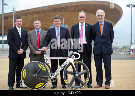 Cycling - UCI Track Cycling World Cup and Olympic Games Test Event - Day One - Olympic Velodrome - Stock Photo